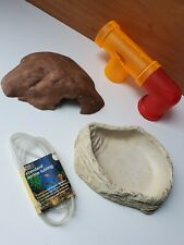Reptile Pet Turtle Lizard Feeding Water Bowl_ Water_Tube_Cave_Pipe Decorations