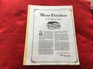 Whizzer Salesman Manual Merry Christmas To The Whizzer Family