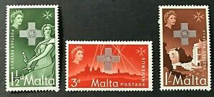 MALTA Sc#263-265 1957 George Cross Mint NH OG VF/XF (1-86)