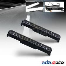"8.5"" 28 LED BLACK HOUSING BUMPER FOG LIGHTS DRL LAMPS NEW PAIR"