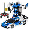 2 en 1 RC Voiture Sport Robot Transformation Véhicule Télécommande Jouets  +A