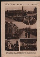 Dispensaire Infirmières Village de France/Bibliothèque Enfants 1919 ILLUSTRATION