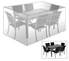 Schutzhülle Abdeckhaube für Sitzgruppe Gartenmöbel Plane transparent GZ1194tp