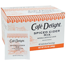 Cafe Delight Spiced Hot Cider Single Serving Packets 40 count
