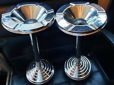 More details for art deco silver plated ashtray