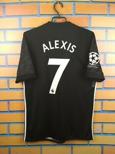 Alexis Sanchez Manchester United Jersey 2017 2018 Away M Shirt BS1217 Adidas
