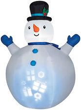 CHRISTMAS SANTA PROJECTION SNOWMAN  AIRBLOWN INFLATABLE YARD DECORATION
