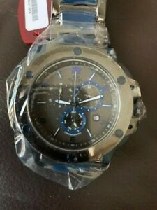 Oniss ON612 Ceramic Watch with 3 inner dials Blue Ceramic and Gun Metal