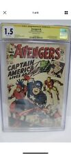 Avengers #4 CGC 1.5 Signed And SKETCH Stan Lee, First Appeance Captain America