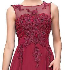 Lang Brautjungfer Abendkleid Brautkleid Ballkleid Kleid Gr 32/34/36/38/40+ Heiß