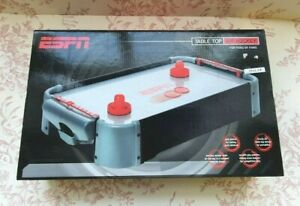 """Table Top Air Hockey Table Game 20"""" by ESPN - Boxed Complete Excellent Condition"""