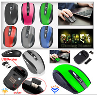 2.4GHz Wireless Cordless Optical Scroll Mouse Mice For PC Laptop Computer USB UK