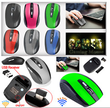 2.4GHz inalámbrico inalámbrico ópticos Scroll Mouse Ratones para PC Laptop Computadora Usb Reino Unido