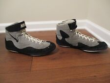 Used Worn Size 14 Nike Inflict Wrestling Shoes Gray Black White