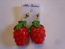 Ohrstecker mit roter Erdbeere 3 D Erdbeere Lecker Hingucker  süssssss 403