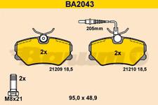 BB.8181 Bremsbelagsatz Hinterachse für Peugeot Seat VW Audi Renault