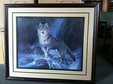 """1986 Susan Hunter Siegrist ''The Outlaw"""" - Wolf print"""