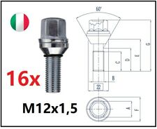 kit 16 bulloni flottanti a variazione interasse M12x1,5 L 28mm Fiat Grande Punto