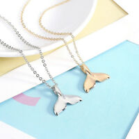 Fashion Mermaid Fishtail Whale Tail Pendants Necklace Women Chain Jewellery Gift