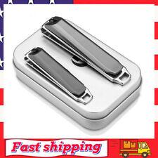 Nail Clipper Set Fingernail and Toenail Clippers Cutter 2Pcs Sharp Nail Cutter