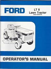 Ford  LT 8 Lawn Tractor Operator's Manual gwc1