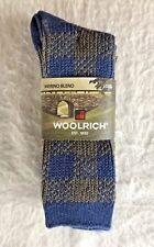 Woolrich Ultimate Merino Wool Sock Large 2 Pack Men 8-12 Women 7-12 New Package