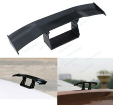 Mini Black No Drilling Rear Tail Empennage Trunk Spoiler Wing Body Kit Trim #2