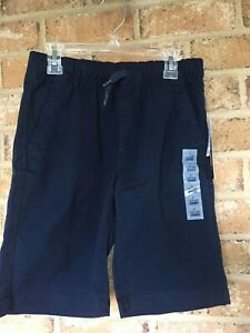 Old Navy Ink Blue Boy's Youth Drawstring Shorts Size Large (10-12) RN 54023 NEW