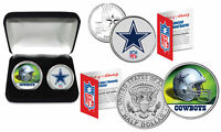 DALLAS COWBOYS Officially Licensed NFL 2-COIN U.S. SET w/ Deluxe Display Box