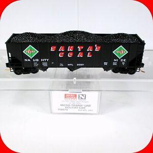 N Scale CHRISTMAS HOLIDAY / Santa's Coal 3-bay Hopper Car -  MICRO TRAINS 108070