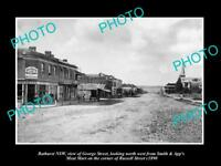 OLD LARGE HISTORIC PHOTO OF BATHURST NSW VIEW OF THE GEORGE STREET & STORES c18