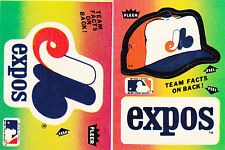 (2)  MONTREAL EXPOS 1983 FLEER LOGO STICKERS MINT FREE SHIPPING