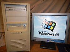 VINTAGE Windows 98 SE TRUE DOS DELUXE Gaming Computer PC PII SOUNBLASTER 16 ISA
