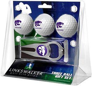 Kansas State Wildcats Hat Trick Divot Tool & KSU Logo Golf Balls Gift Set