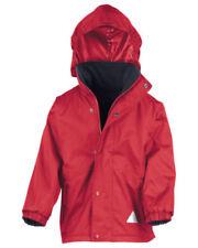Cappotti e giacche rossi con cappucci per bambini dai 2 ai 16 anni autunno