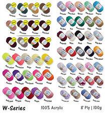 30 Ball 8 Ply Acrylic Knitting Yarn Crochet Ball 100g Buy Bulk Lot Choose Colors