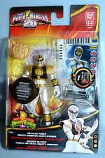 POWER RANGERS MEGAFORCE MIGHTY MORPHIN WHITE METALLIC WHITE RANGER NEW 20TH