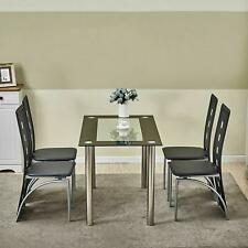 4-Piece Dining Chair w/ 1 Table Dining Set Home Kitchen Breakfast Furniture