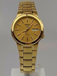 Seiko 5 Automatic Full Gold PVD Steel Men's Watch SNKA10K1