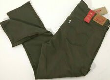 Levis 711 Size 16 W33 Ankle Skinny Green Cargo Cropped Zipper Ankle Skinny Jeans