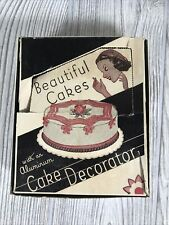 ANTIQUE VINTAGE TIN METAL CAKE COOKIE PASTRY DECORATING PLUNGER  With Box & Tips