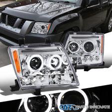 For 05-12 Nissan Xterra Clear Lens Halo LED Projector Headlights Head Lamps Pair