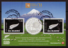 NEW ZEALAND 2011 PHILANIPPON STAMP EXHIBITION MINIATURE SHEET  FINE USED.