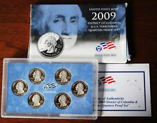 2009 U.S. Mint Proof QUARTERS Set of 6 District of Columbia &  U.S. Territories