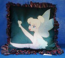 Disney Tinker Bell Throw Pillow Pixie Fairies Girls Womens Bedroom Poster Art