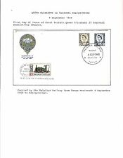 1968 TOPICAL RAILROAD GREAT BRITAIN FDC QUEEN ELIZABETH II WALES DEFINITIVE