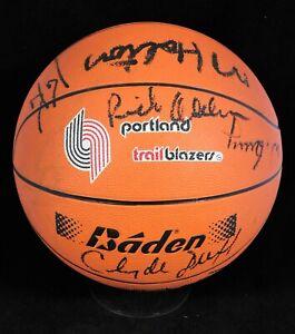 Portland Trail Blazers 1986-87 Team Signed Basketball Beckett Authenticated BAS