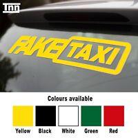 x3 Fake Taxi Sticker Small Size Slammed Ride Euro JDM Drift Air Low Dub VW Audi