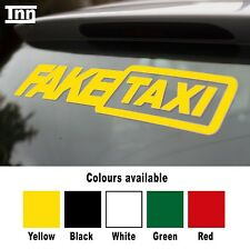 2x Fake Taxi Sticker Small Size Slammed Ride Euro JDM Drift Air Low Dub VW Audi