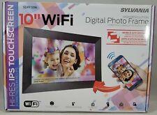 Sylvania, 10 in. Wi-Fi FRAMEO APP Control Digital Picture Frame SDPF1096 - O/B